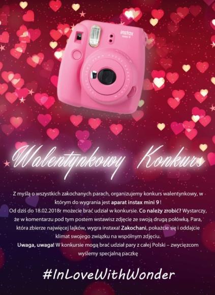 In love with #Wonder. Facebookowy konkurs walentynkowy w Wonder Photo Shop Sztuka, LIFESTYLE - Od 12 do 18 lutego Wonder Photo Shop ? niezwykły fotograficzny concept store ? organizuje na Facebooku konkurs walentynkowy.