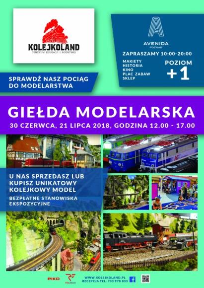 Giełda modelarska w Avenidzie Poznań Hobby, LIFESTYLE - Już 30 czerwca w Avenidzie Poznań zostaną zaprezentowane unikatowe i precyzyjnie odwzorowane modele kolejowe, a także uzupełniające je makiety samochodowe, lotnicze czy morskie ? nawet z okresu przedwojennego.